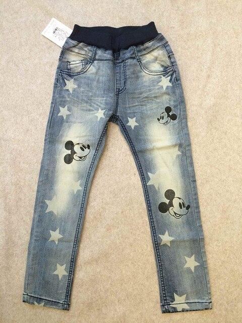 Бесплатная доставка мода мальчики девочки джинсы для весна / осень новинка джинсовые брюки Новый стиль детский мультфильм джинсы розничная