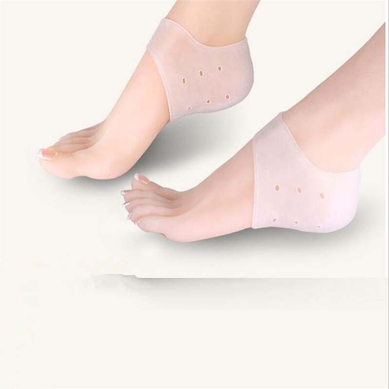 1 Pair New shoe heel protector silicone heel protective sleeve relieve ease heel pain foot care cracking