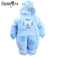 2017 Winter Newborn Infant Baby Clothes Rompers Fleece Animal Style Clothing Kids Warm Thick Romper Baby Cotton-padded Overalls