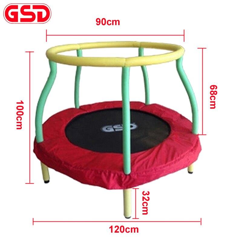 GSD высокое качество 4 фута Дети батут прыжок кровать, максимальная нагрузка 100 кг, TUV GS была одобрена