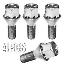 4pcs/set M12 x 1.5 Wheel Bolt 17mm Hex Tapered Seat Alloy Car Nut Set For Tire Replacement Parts