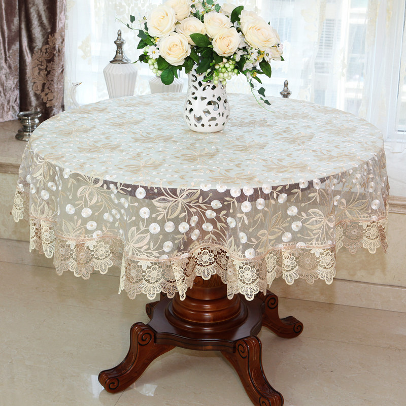Coffe Round Tea Table Cloth Lace Tablecloth Modern Hollow Table Cover Dinning Obrus Tischdecke Toalha Mesa Tovaglia Tavolo E11