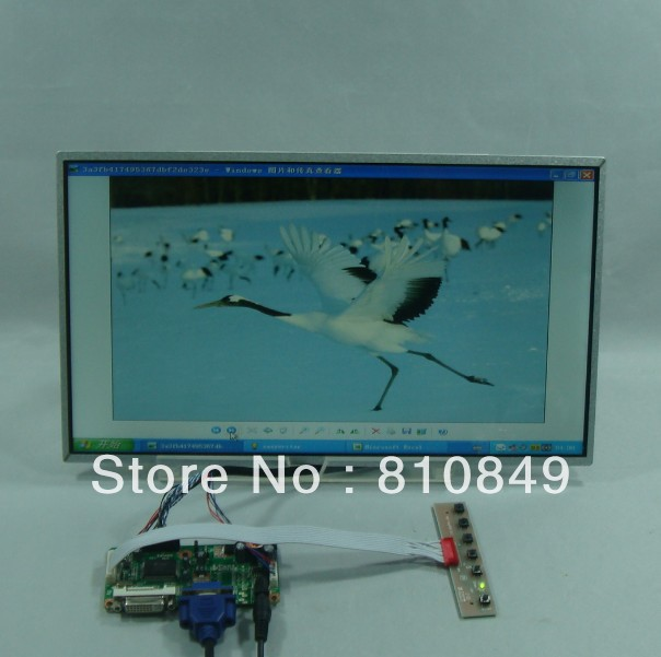 DVI+VGA Lcd Control board+15.6inch 1366*768 LP156WH4 BT156GW02 N156B6 Lcd panel 8 4 8 inch industrial control lcd monitor vga dvi interface metal shell open frame non touch screen 800 600 4 3