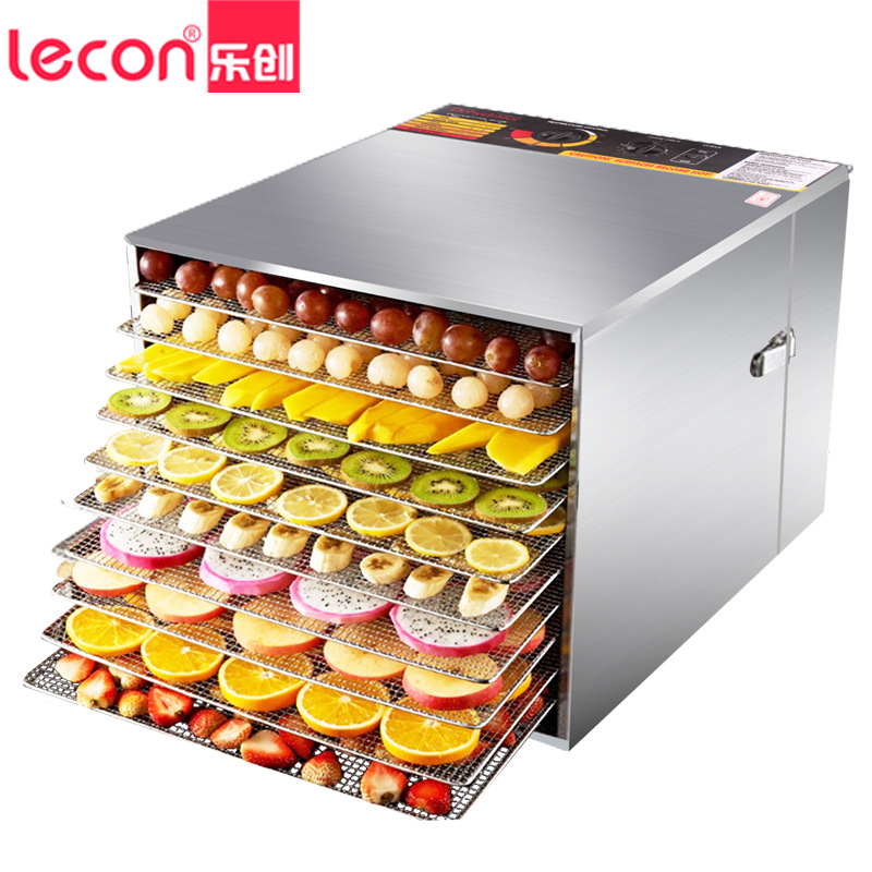 Lecon drying machine medicinal material pet food food air dry machine home stainless steel fruit machine GGJ-01 fast food leisure fast food equipment stainless steel gas fryer 3l spanish churro maker machine