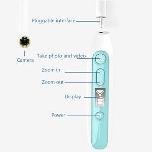 Image 3 - WiFi ワイヤレス歯科カメラ HD 口腔内内視鏡 8 led ライト検査医リアルタイムビデオ歯科ツール