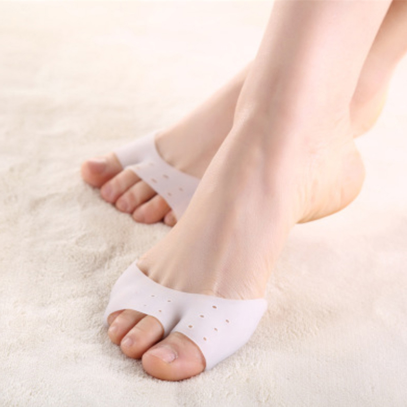 1Pair Silicone Gel Frontfoot Pads Soft Pointe Toe Pads Beskyttere for Pointe Ballett Sko Pain Relief Anti Slip Pute Pedicure