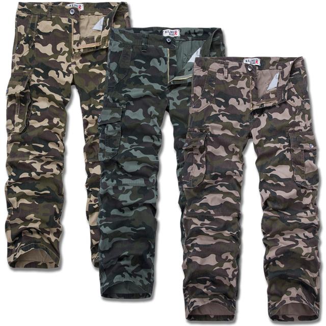 Boa Qualidade Calças de Carga Militares Dos Homens Homens Camuflagem De Algodão Calças Quentes Plus Size S-4XL