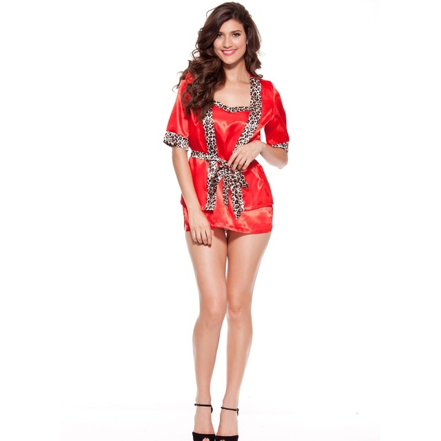 Nighty Dress Robes Women Apparel Underwear Red Sexi Sleepwear-in ... 1bb813bbe