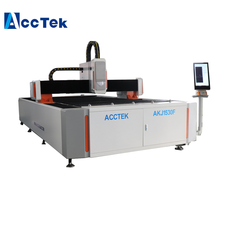 Jinan AccTek 1500*3000mm Raycus IPG 500W 750W 1000W Cnc Metal Fiber Laser Cutting Machine