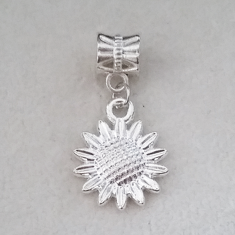 1PC Sun Flower Pendant Charms Silver Dangle Bead For European Pandora Charm DIY Pulseras Womens bracelets