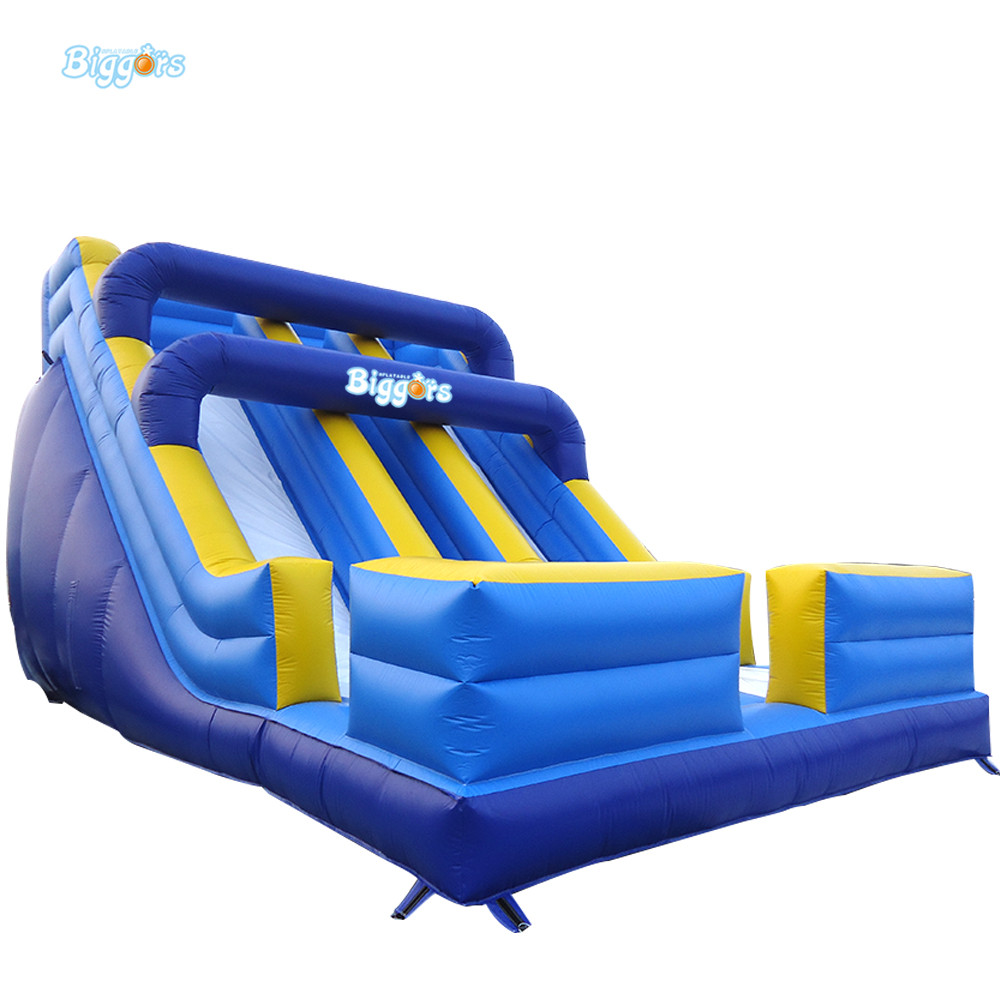 Outdoor Commercial Bouncer Double Lance Inflatables Slide Inflatable Water Slide For Kids With Blower new inflatable slide wave slide slide ocean hx 886