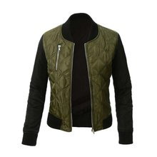 Winter Jacket Women Quilte dBomber Jacket Coat Short Slim Jacket Coat Veste Militaire