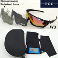 POC 4 Lens 2017 Photochromic Polarized Cycling glasses Men Women Bike sunglasses Sport Outdoor Goggles ciclismo Bicycle Eyewear