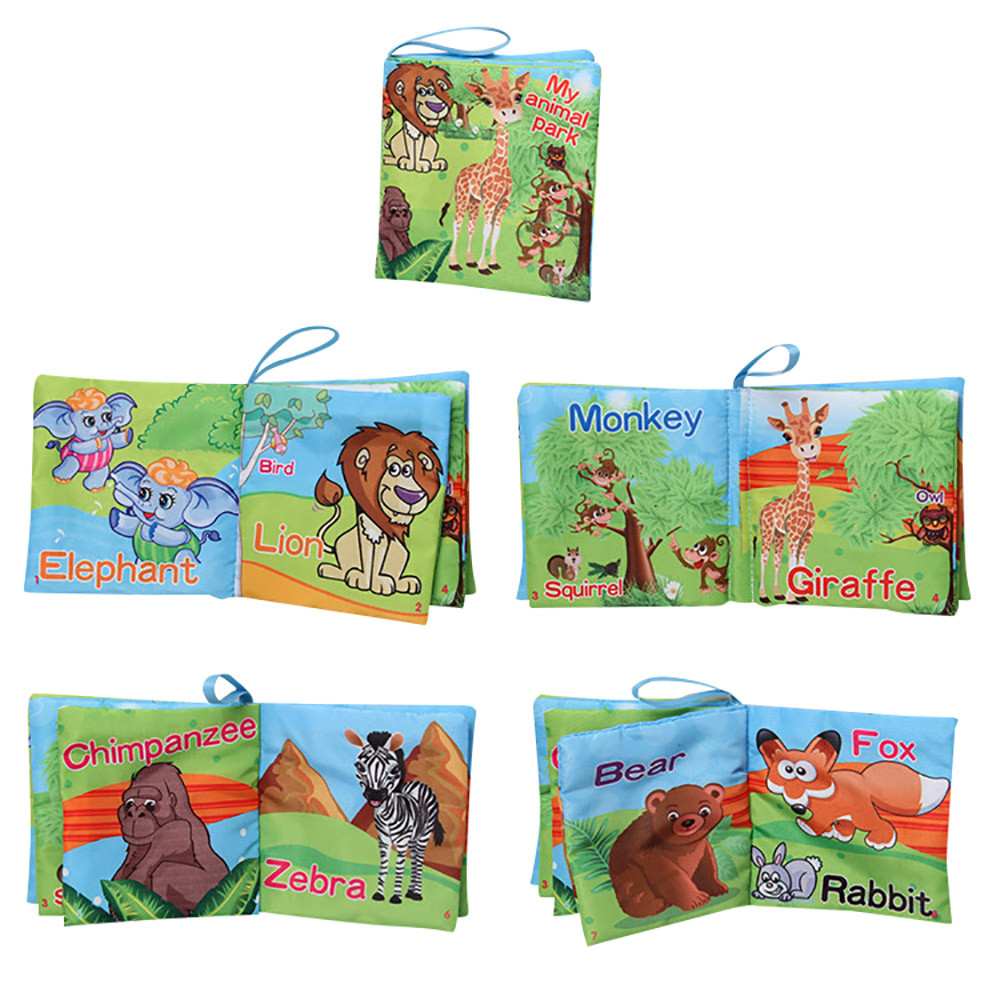 Hot selling Soft cloth books for babies New Cloth Baby Intelligence Development Learn Picture Cognize animal Sound Books JD Love