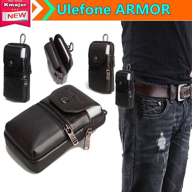 Genuine estojo de couro clipe de cinto bolsa de cintura bolsa case capa para ulefone armadura 4.7 polegada ip68 à prova de água-telefone transporte da gota livre