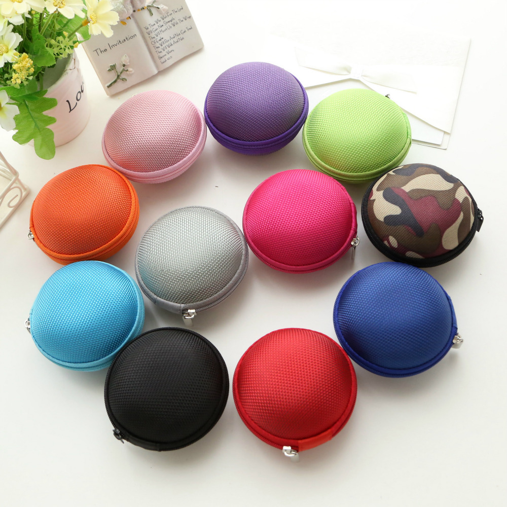 1pcs Mini Portable Earphone Storage Box Wire Card Hard Pouch Headphones Bag Hold Cases K ...