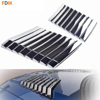 2pcs JDM Chrome Hood Engine Grille Side Vent Inlet Cover Trims for Ford F150 Raptor SVT 2009 2014