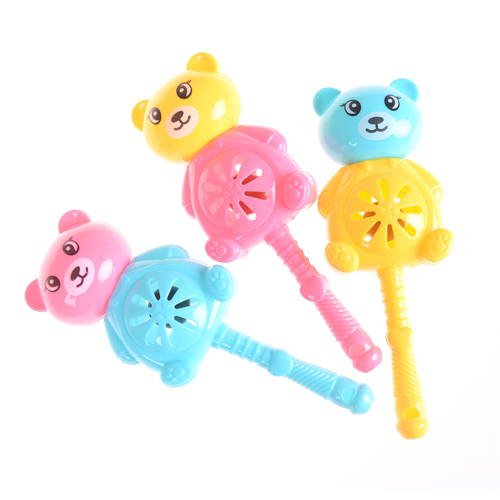 1pc Multicolor Bear Baby Hand Rattles Baby Rattles Baby Toy Newborn Teethers Combination High Quality