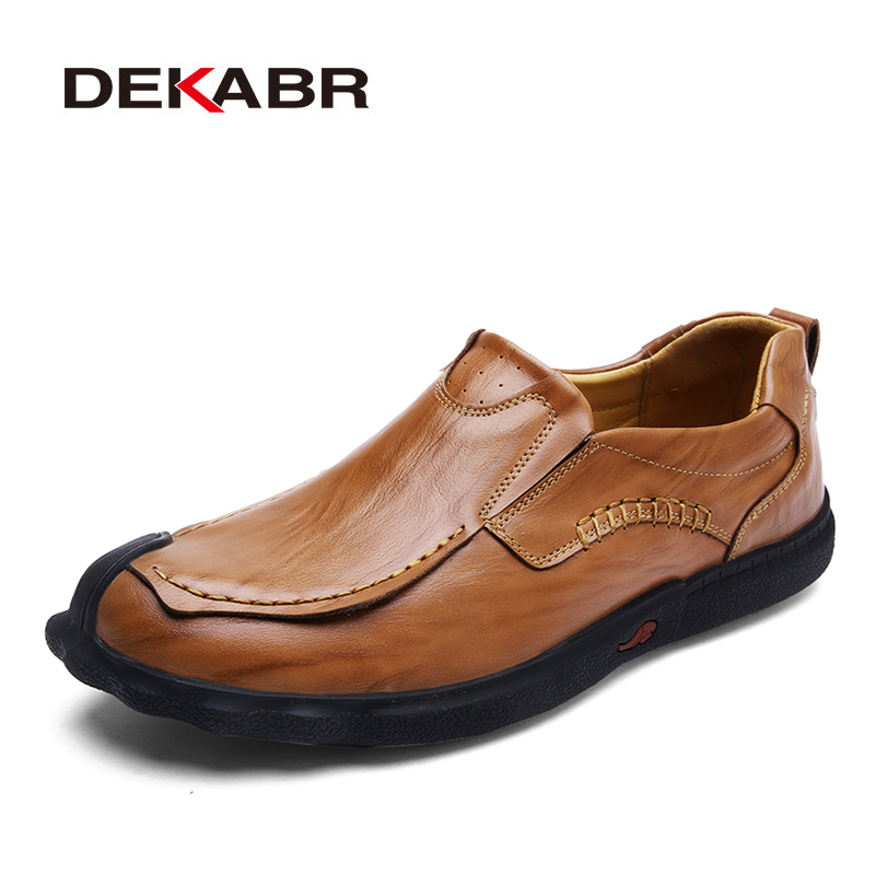 DEKABR 2018 New Men Shoes Comfortable Men Casual Shoes Fashion Breathable Flats For Men Slip On Lazy Shoes Zapatos Hombre branded men s penny loafes casual men s full grain leather emboss crocodile boat shoes slip on breathable moccasin driving shoes