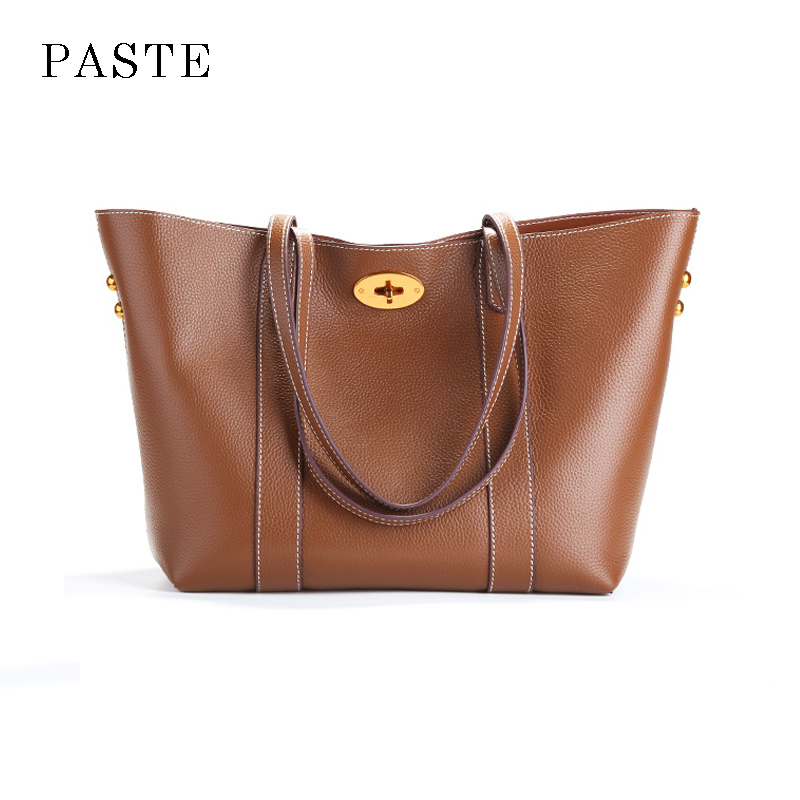 2017 Winter Famous Brand Trapeze Bag Large Capacity Women Top-handle Handbag Genuine Leather Female Tote Bag High Quality y fly brand new genuine leather bag famous designer belt top handle handbags hot big capacity bucket bag tote shopping bag hc355