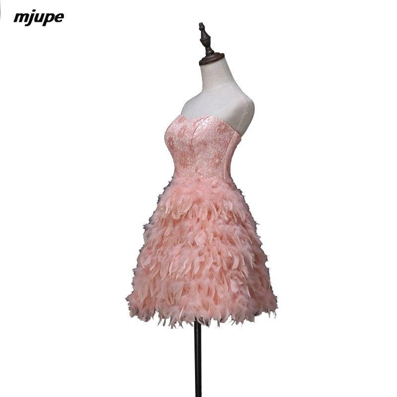 Corto sin tirantes de vestidos de baile para las mujeres cordón de ...