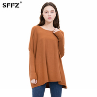 SFFZ 2019 New Knitted Sweater Women O Neck Batwing Sleeve loose Plus Free Size Pullover Female Soft Warm Autumn Casual Jumper