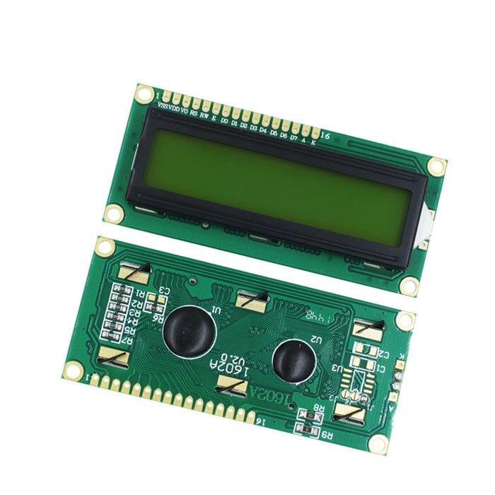 20PCS/LOT LCD1602 LCD 1602 green/yellow screen with backlight LCD display 1602A-5v 1602 LCD