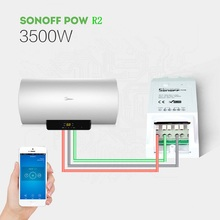 Remote Turn On/Off Smart Switch Sonoff Pow R2 16A Wifi Smart Home Switch With Energy Monitoring Overload Protection 35MR21