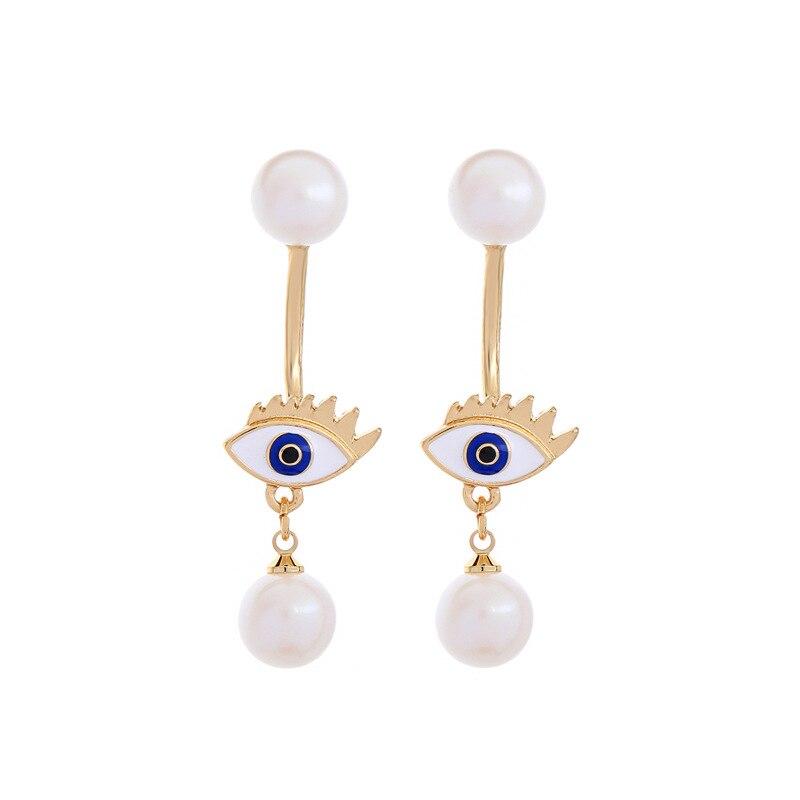 d1c03e2d12a4 Ala yuk tak pendientes lindo coreano amarillo esmalte estrella simulado  perla pendientes para las mujeres Oorbellen Boucle D oreille Femme 2018 en  Stud ...