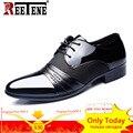 REETENE Männer Kleid Schuhe Mode Pu Leder Schuhe Männer Marken Hochzeit Oxford Schuhe für Männer Atmungs Männer Formale Schuhe|Formelle Schuhe|   -