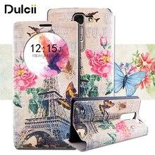 Dulcii для LG G4c H525N случае ароматный окном View искусственная кожа флип чехол для телефона для LG Magna G4c H502F H500F h525N чехол Коке Капа