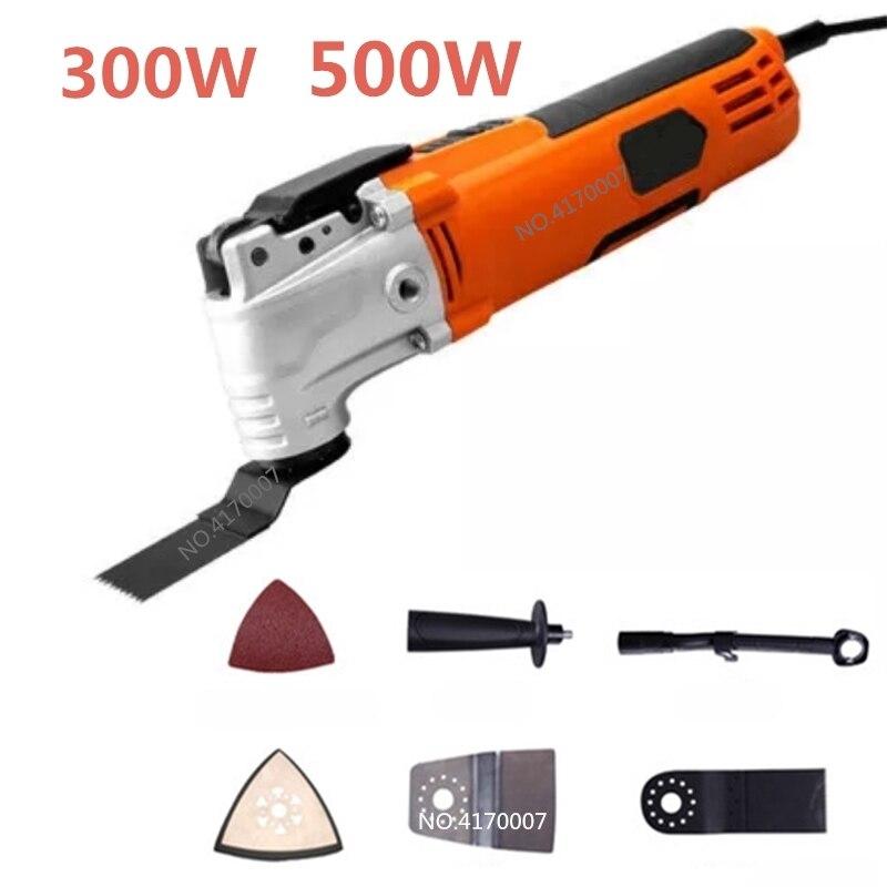 220 v 500 w À Vitesse Variable Électrique Multifonction Oscillant Outil Kit Multi-Power Tool Outil Électrique Tondeuse Vu w /accessoires