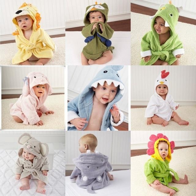 LittleSpring Hot! розничная мальчик девочка Животное Детские халат/ребенка с капюшоном полотенце/дети ванна махровые дети младенец купание/ребенок халат