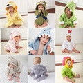 LittleSpring Hot! Retail boy girl Animal Baby bathrobe/baby hooded bath towel/kids bath terry children infant bathing/baby robe