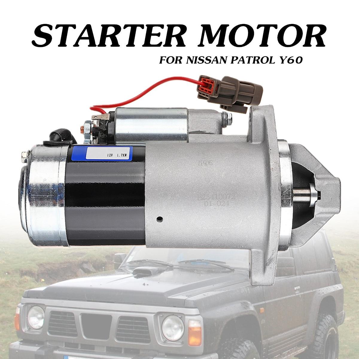 STARTER MOTOR FITS NISSAN PATROL TB42,TB45,TB48 4.2L,4.5L 4.8L PETROL