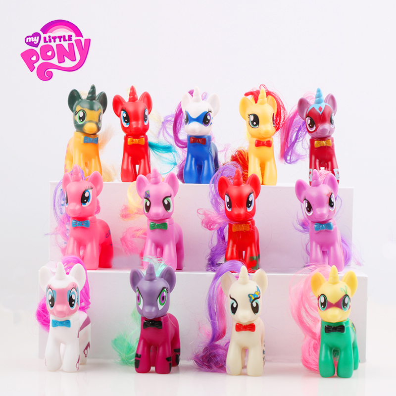 13pcs/Set 8cm Hasbro <font><b>My</b></font> <font><b>Little</b></font> <font><b>Pony</b></font> Toys Friendship Is Magic <font><b>Mini</b></font> <font><b>Pony</b></font> <font><b>PVC</b></font> <font><b>Action</b></font> Figures Set Collectible Model Doll Dolls