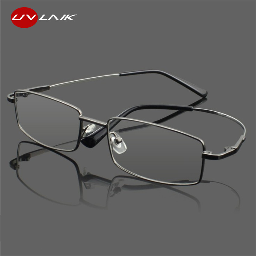 UVLAIK Titanium Alloy Glasses Frames Men Women Spectacle Transparent Eyeglasses Frame Business Eye Glasses Optical Glasses