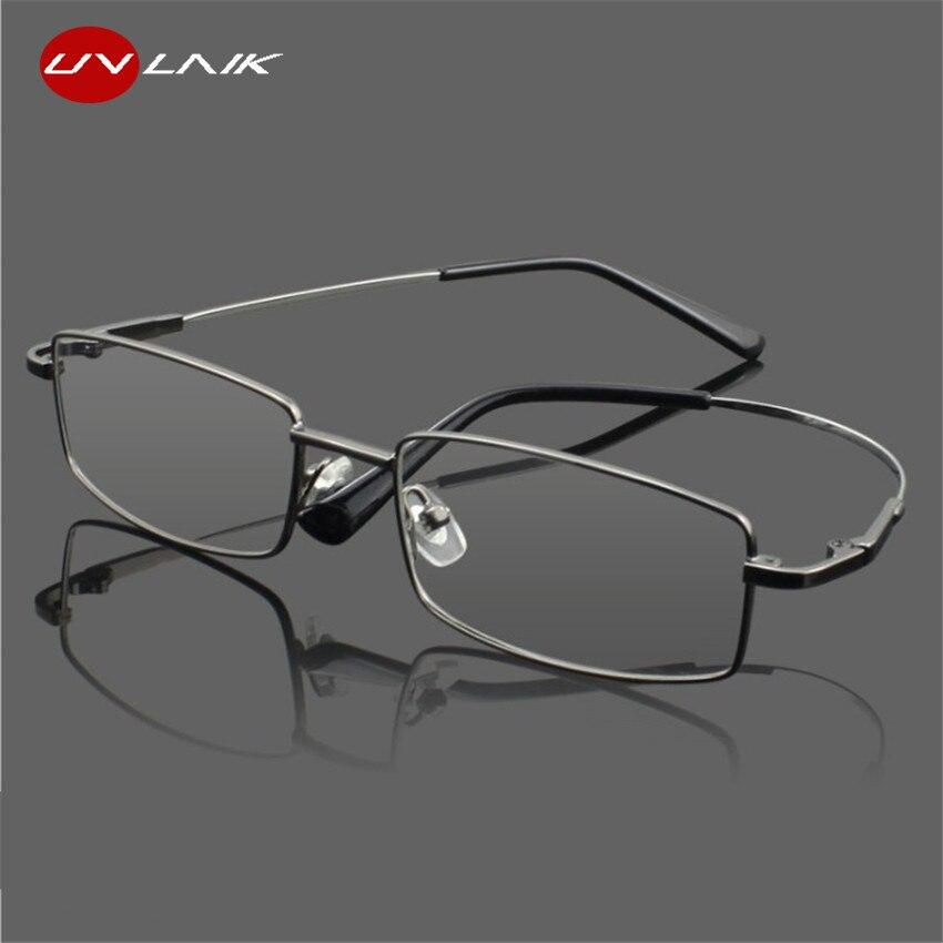 UVLAIK Titanium Glasses Frames Men Women Spectacle Transparent Eyeglasses Frame Business Eye Glasses Myopia Optical Glasses