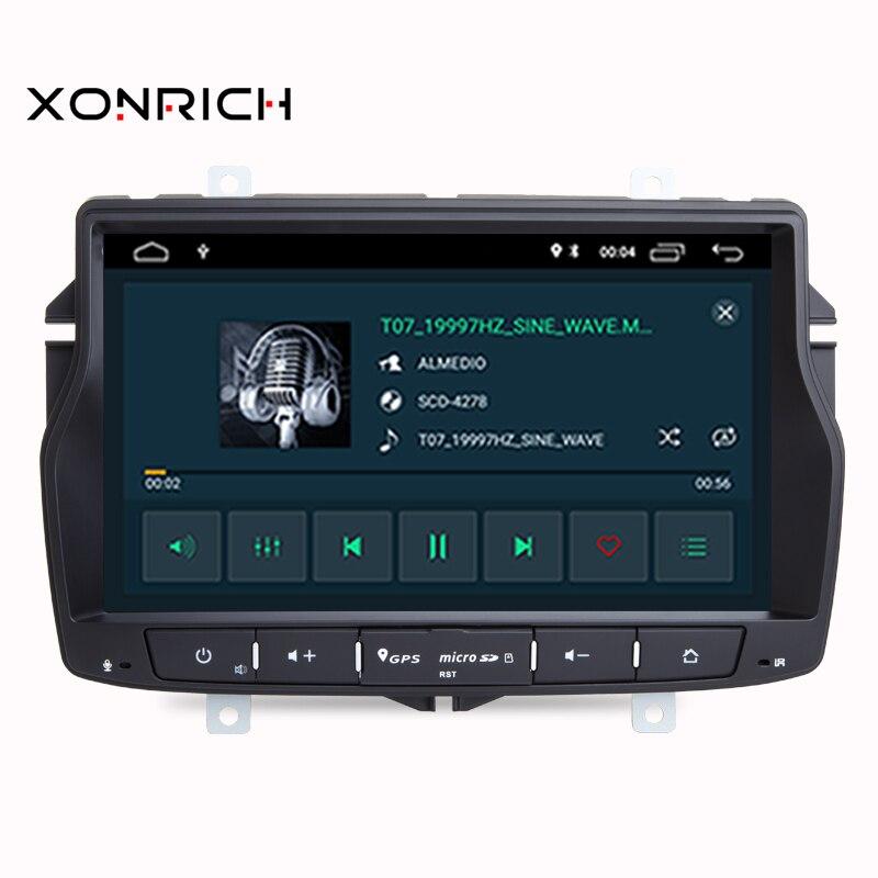 Автомобильный мультимедийный плеер Android 9 Automotivo 1 Din для Dacia/Sandero/Duster/Renault/Captur/Lada/Xray 2/Logan 2 GSP ram 2G DSP RDS