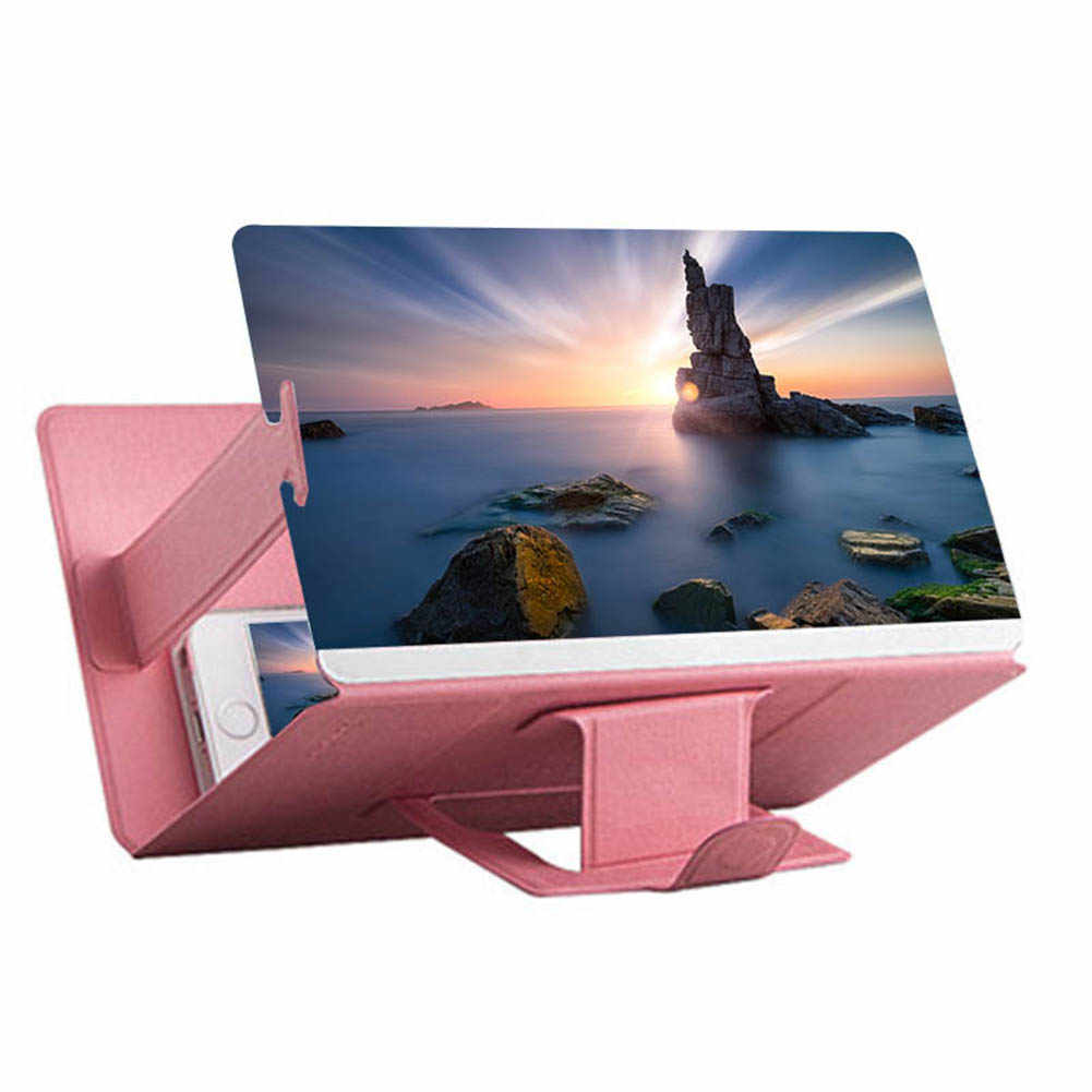 Universal Mobile Phone 3D Screen HD Video Amplifier Magnifying Glass Stand Bracket Holder XR649