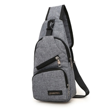 New Single Shoulder Men Canvas Chest Bags Mens Back Pack Vintage Man Casual Korean Chest Pack Crossbody Messenger Bag men bag genuine leather chest bag famous brand chest shoulder messenger bags casual vintage sling back pack of the