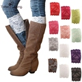 2017 New Stretchy Lace Boot Cuffs Trim Toppers Leg Warmers Women Socks Elastic Thigh Bands Femininas 1 pair 13 styles
