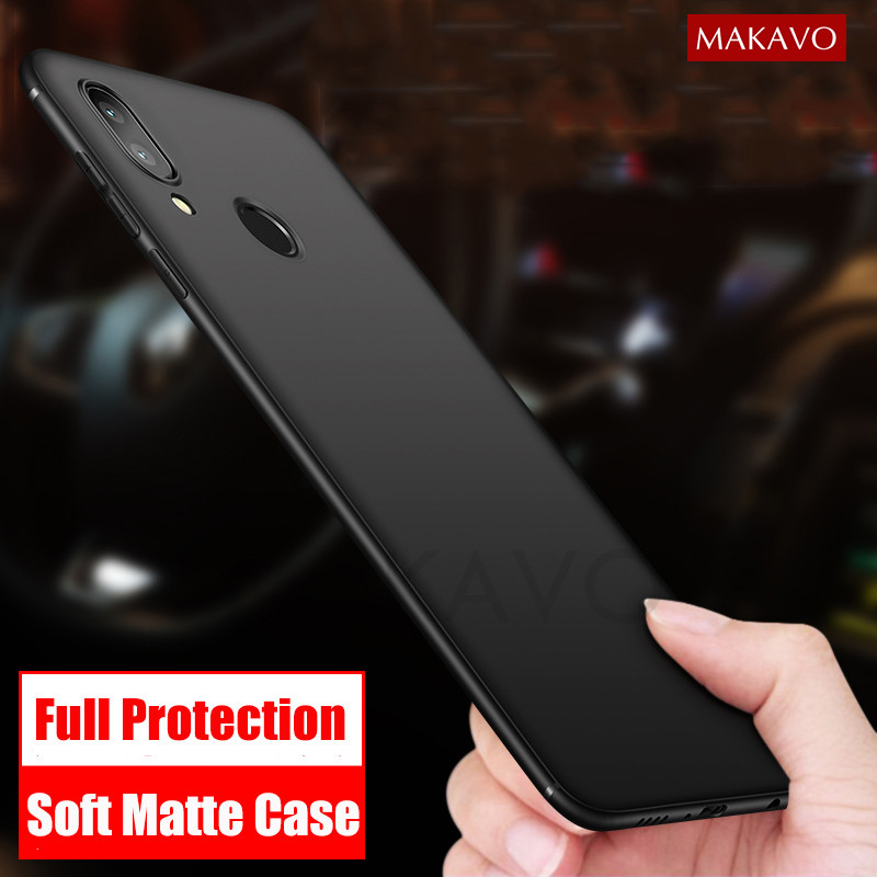 MAKAVO Cover For Huawei Honor Play Case Full Protection Soft Silicone Matte Phone Cases For Honor Play 6.3Inch