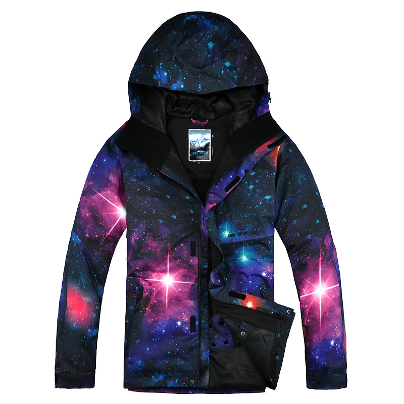 GSOU SNOW New Men's Korean Style Outdoor Waterproof Printing Plate Double Ski Suit Outdoor Ski Suit Windproof Ski Jacket