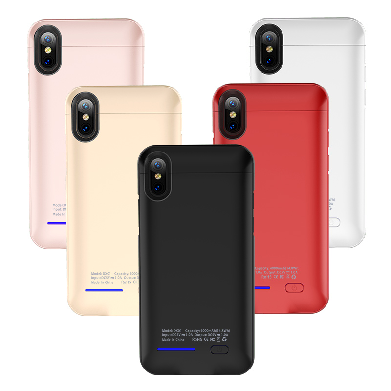 For Iphone X 4000mAh Battery Charger Case Support Magnetic Holder For IphoneX External Rechargeable Battery Charging Cover