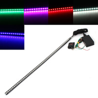 2016 High Quality 7 Color 48 LED RGB Flash Car Strobe Knight Rider Kit Light Strip