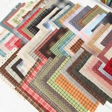 Пряжа окрашенная японская хлопчатобумажная ткань Лоскутная кошелек лоскутное ремесло ткань пряди аппликация швейная ткань 24*34 см выбрать цвет