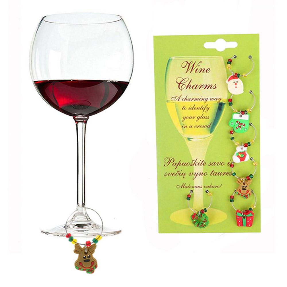 Us 1 93 25 Off 6pcs Set Christmas Ornament Table Goblet Champagne Wine Glass Charms Christmas Decor 2018 Xmas Ornament Happy New Year Dropship In
