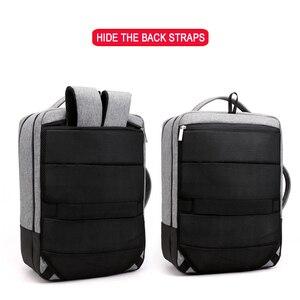 Image 4 - Chống Trộm Ba Lô Nữ Nam Laptop Bagpack 15.6 USB Sạc Nam Xách Tay Lưng Du Lịch Học Mochila Nam Màu Đen của Túi