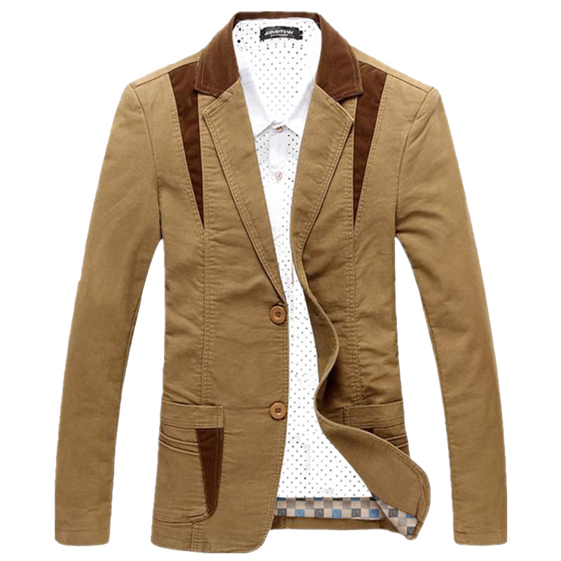 Jacket Men Blazer Clothing Suit Slim-Fit Male Designer Fashion Masculino Brand Casual